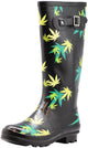Norty Women's Hurricane Wellie - Glossy Matte Waterproof Hi-Calf Rainboots, 41303