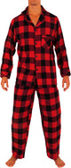 Norty Big Mens Cotton Yarn Flannel Pajama Lounge Sleep Sets - 3XL to 5XL, 41338