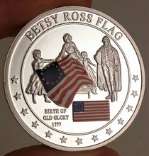Load image into Gallery viewer, Betsy Ross Flag History of Old Glory Challenge Coin
