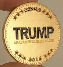 Load image into Gallery viewer, Trump 2016 Commemorative Coin (Gold/ Silver Plated)