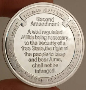 Saint Michael Second Amendment Challenge Coin