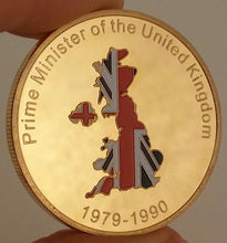 "Load image into Gallery viewer, Margaret Thatcher ""The Iron Lady"" Commemorative Gold Plated Coin"