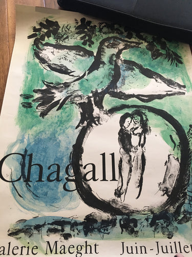 Marc Chagall Lithograph - The Green Bird (AKA Bird and Lovers)