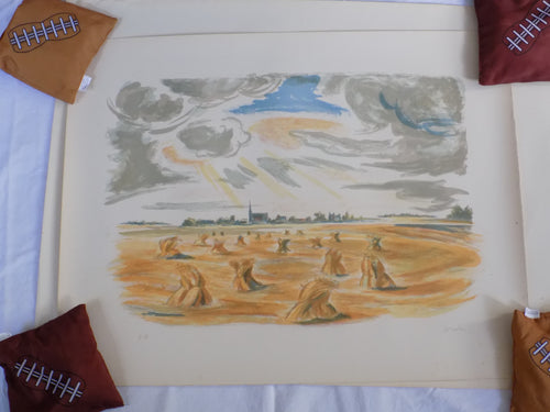 Wreed Haystacks - Lithograph