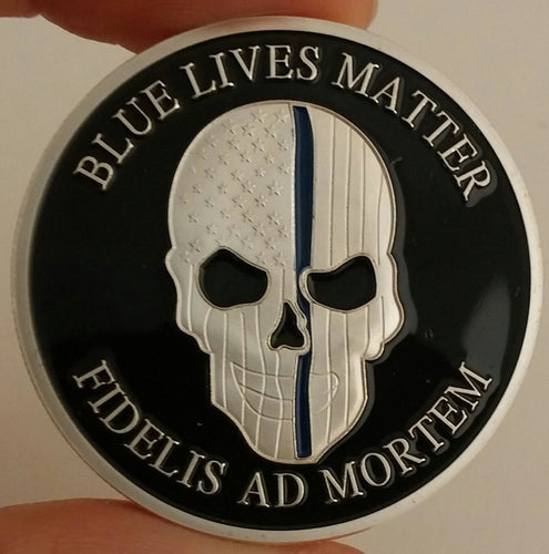 NYPD Blue Lives Matter Challenge Coin