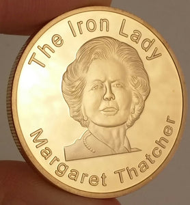 "Margaret Thatcher ""The Iron Lady"" Commemorative Gold Plated Coin"