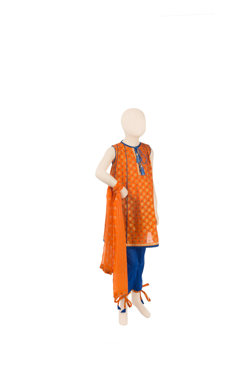 KBD-00322 Girl's 3PC - Komal's