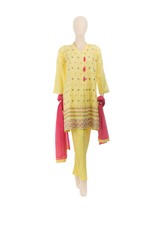 LAD-00574 Embroidered 3PC Suit - Komal's