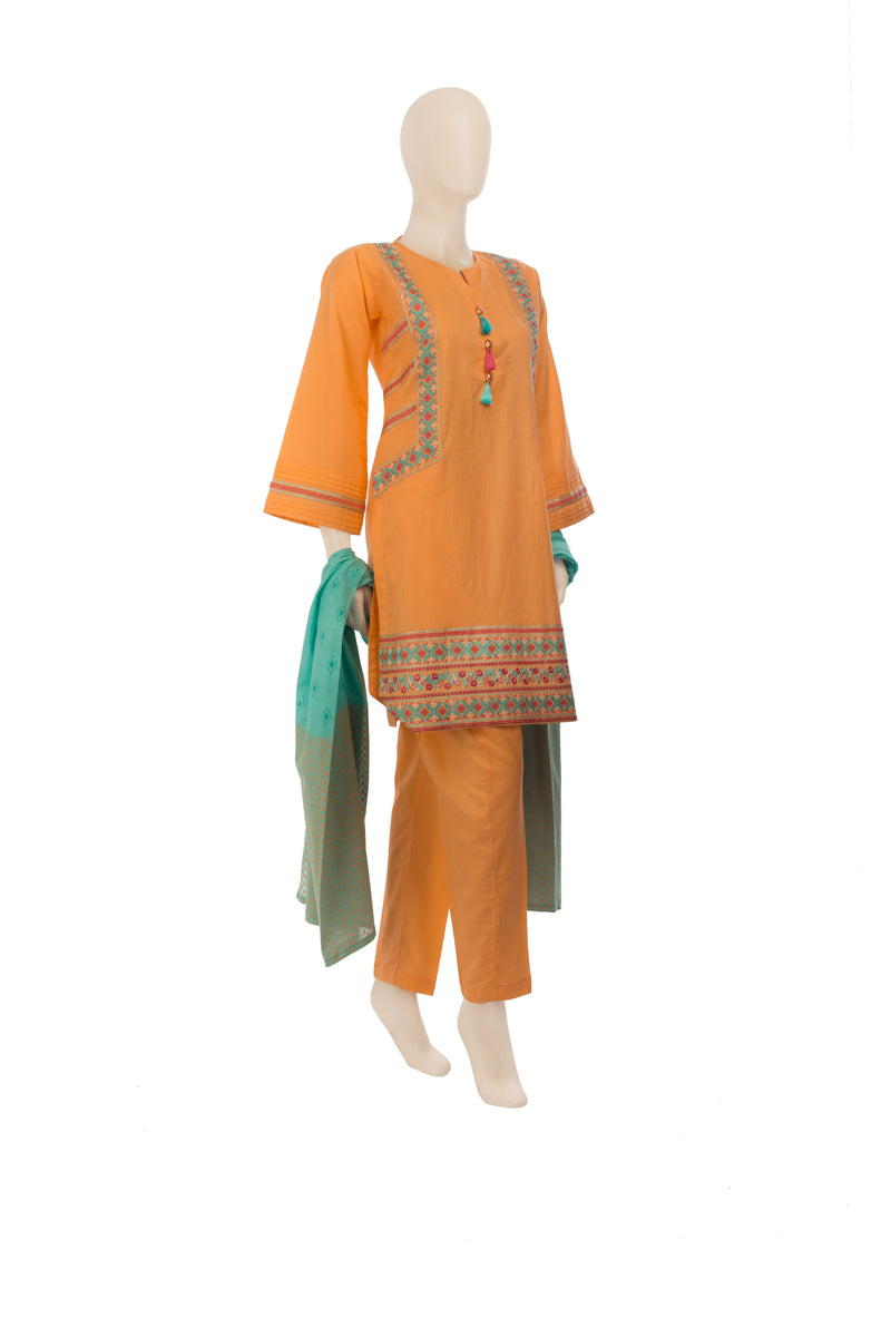 LAD-00575 Embroidered 3PC Suit - Komal's