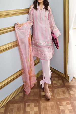 FE-114 Formal Embroidered Chiffon 3PC Suit