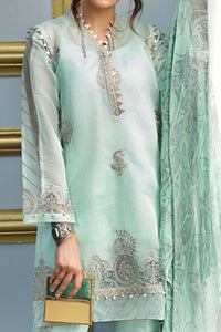 FE-124 Formal Embroidered Chiffon 3PC Suit