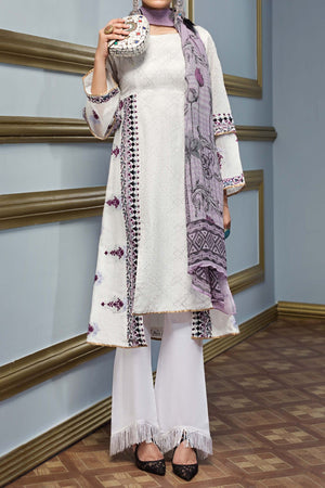 FE-133 Formal Embroidered Chiffon 3PC Suit