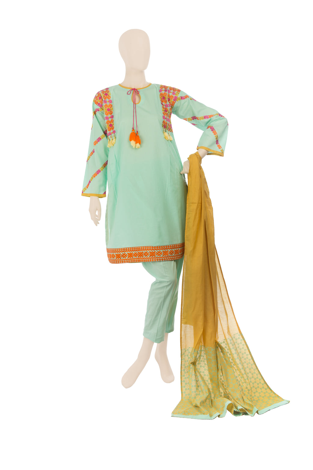 LAD-00571 Embroidered 3PC Suit - Komal's