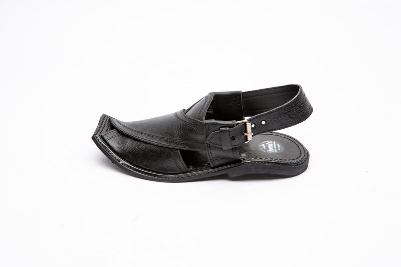 KMPC108 Leather Double-Stitched Peshawari Chappal - Komal's