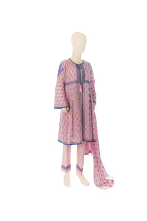 GBD-00518 Girl's Embroidered 3PC Suit - Komal's