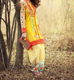GT-7 Embroidered Chiffon 2PC Suit - Komal's