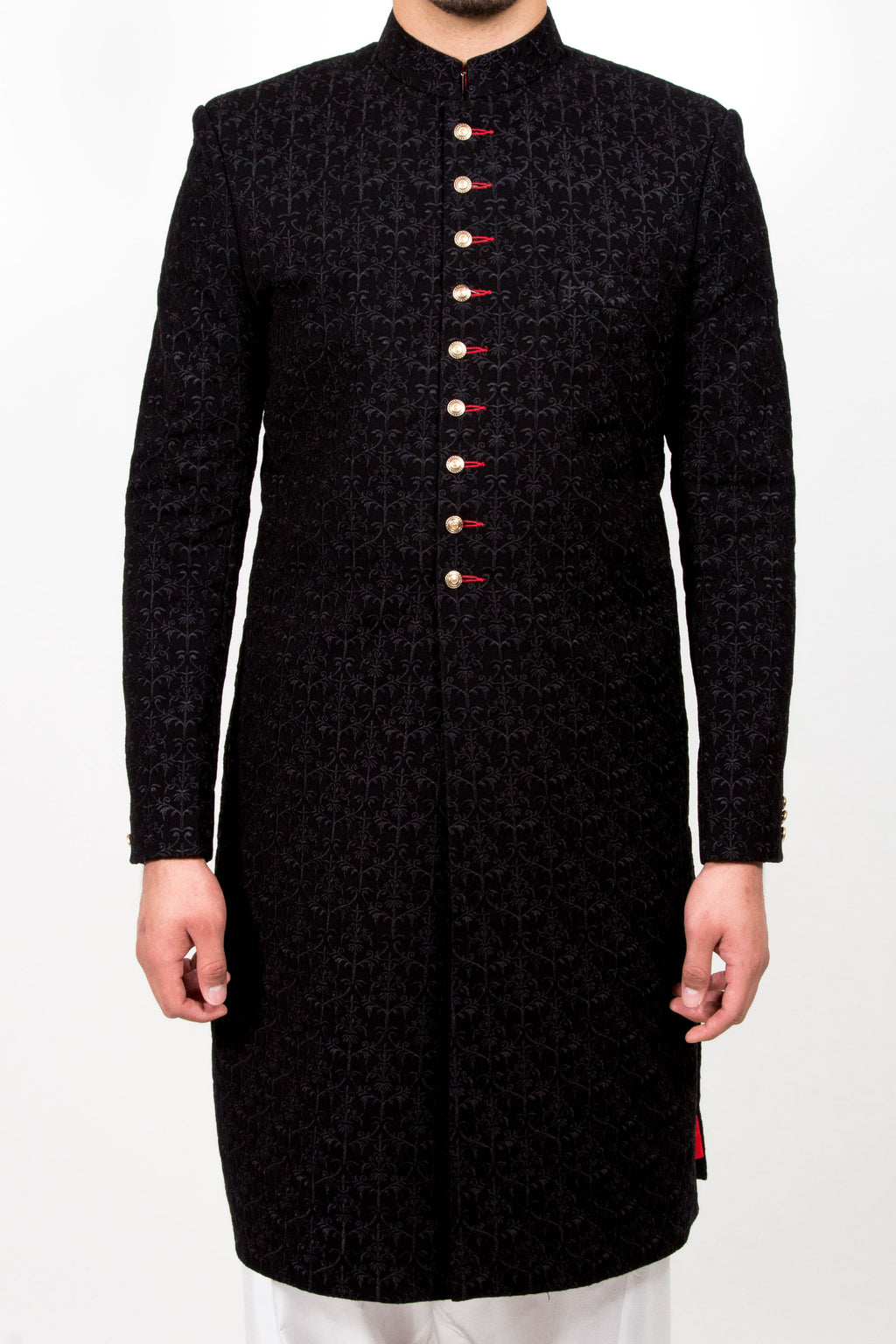 FSK-001 Embroidered Sherwani - Komal's