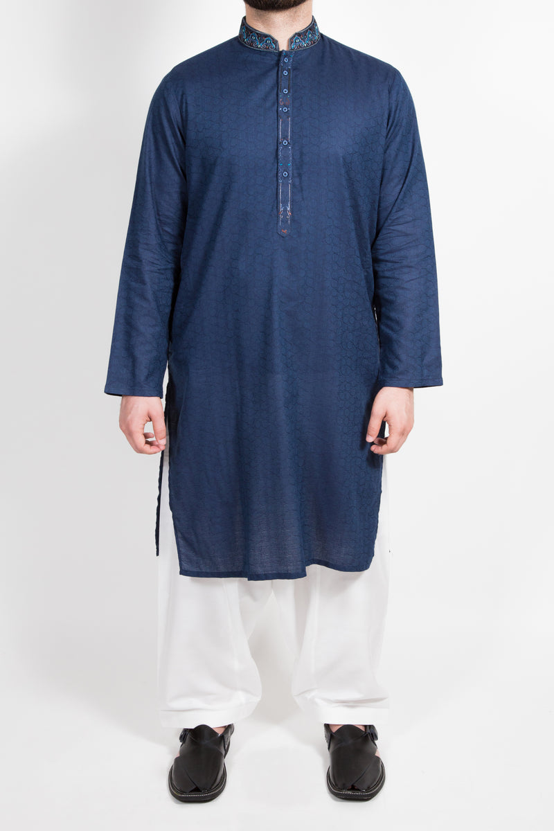 FSK-2476B Embroidered Kurta - Komal's