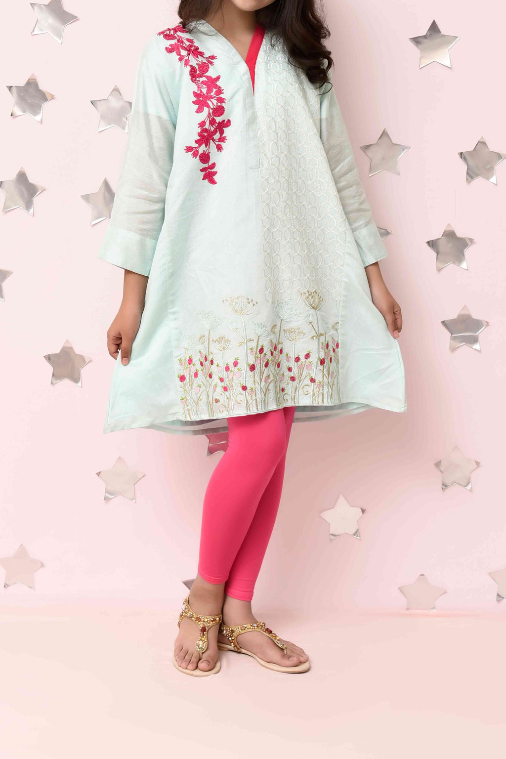 Girls Embroidered Kurti