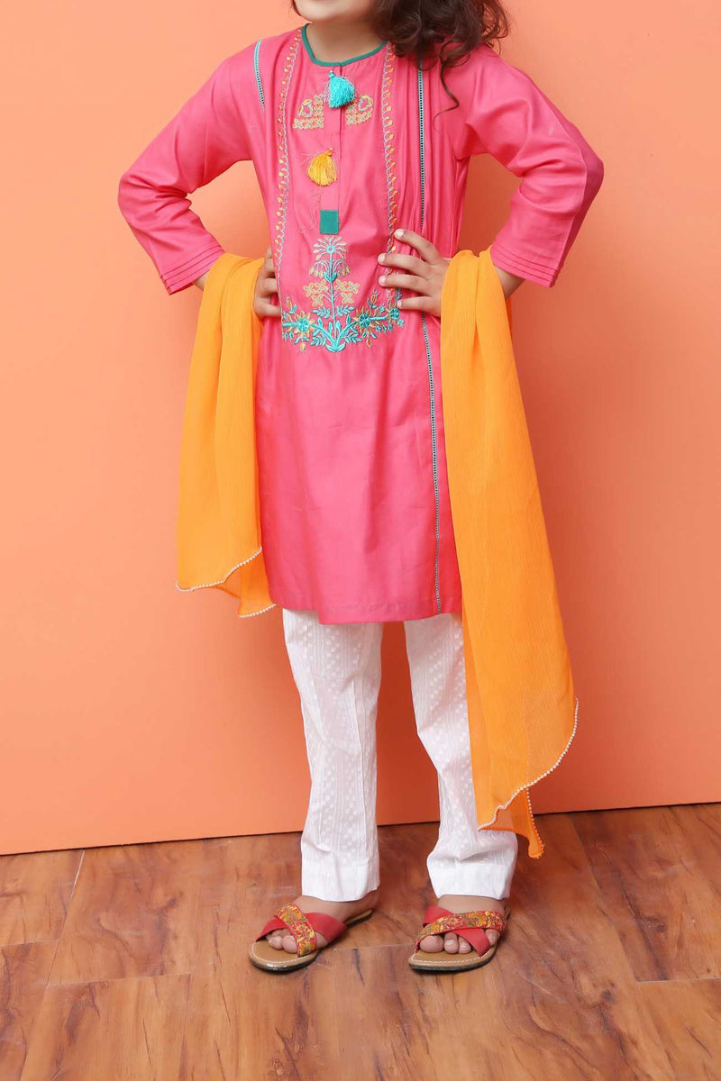Girls Embroidered 3PC Suit