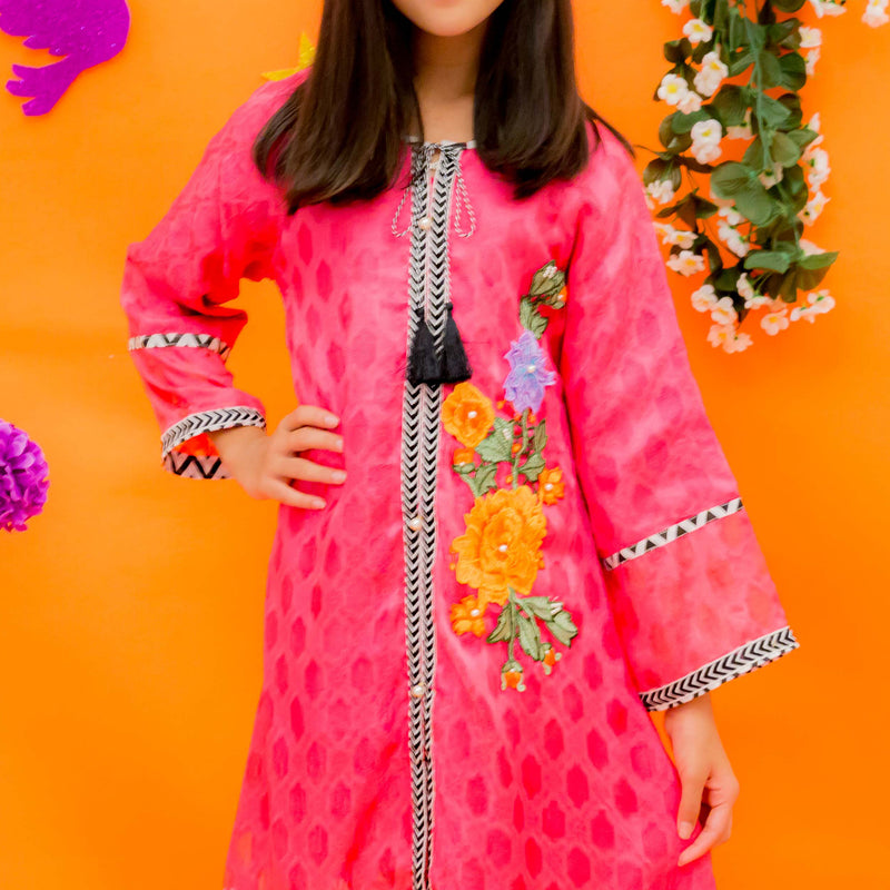 OFW-92 Girls Formal Kurti - Komal's