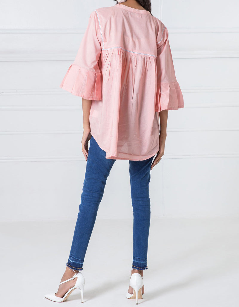 WTB17404 Flared Top With Peplum Sleeves - Komal's