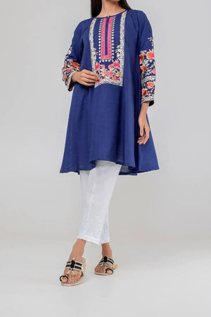 KETE-K18402 Embroidered Flare Kurti