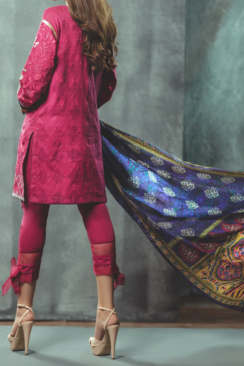 GFSU-1376 Embroidered 3PC Suit