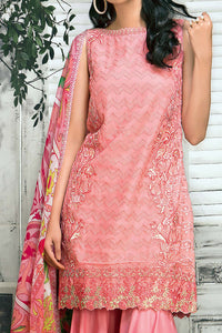 FE-61 Embroidered Chiffon 3PC Suit