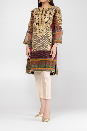 KSFPE18301 Formal Chiffon Silk Kurti