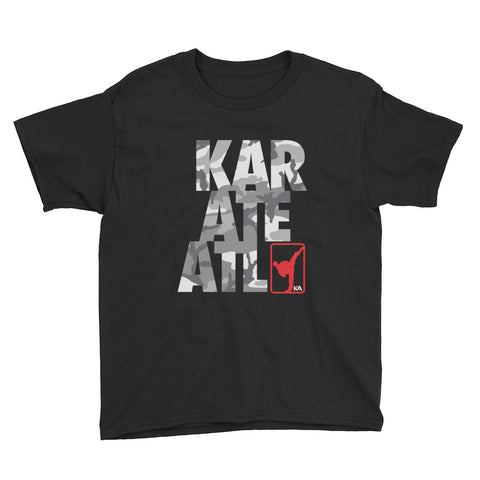 KARATEATL CAMO Youth Short Sleeve T-Shirt