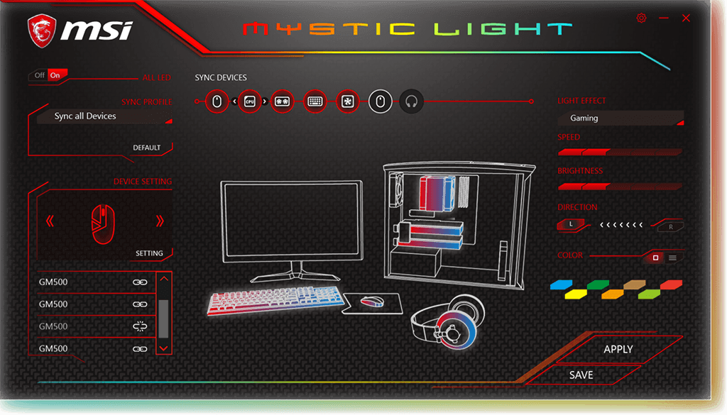 40f7cc4ad2a Using MSI's RGB Mystic Light, gamers can easily change the appearance of  the mouse by choosing from over millions of colors and multiple effects to  match ...