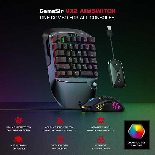 GameSir VX2 AimSwitch Gaming Keypad Combo