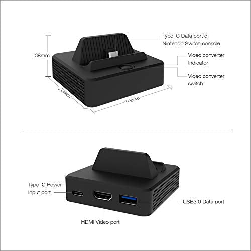 Dobe Nintendo Switch HDMI Video Converter Charing Dock Stand with USB