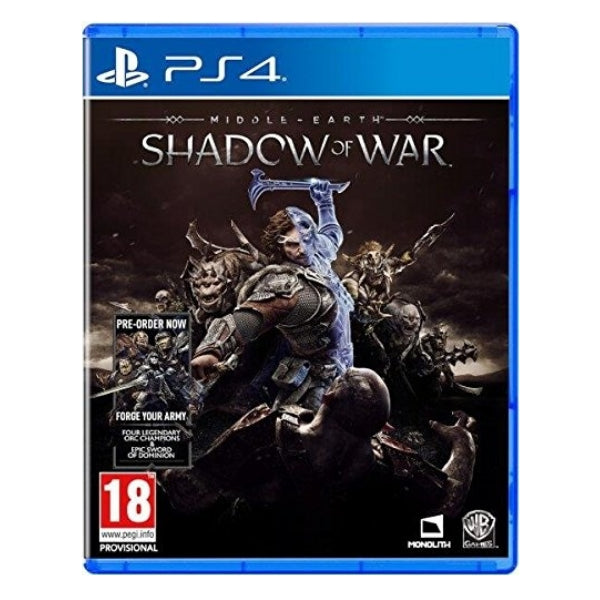 "Middle-earth Shadow of War For PlayStation 4 ""Region 2"""