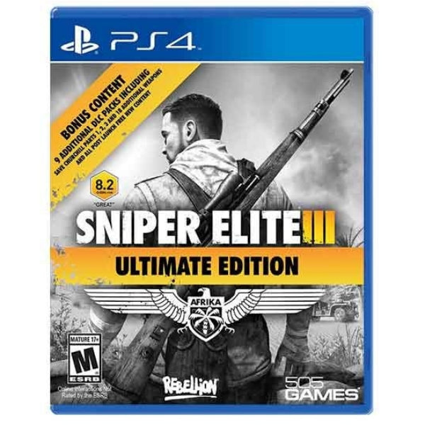 "Sniper Elite III For PlayStation 4 Ultimate Edition ""Region 1"""