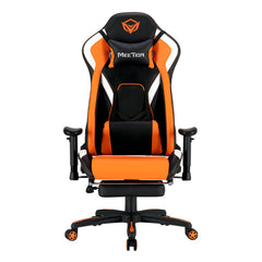Meetion Leather Reclining Gaming E-Sport Chair with Footrest