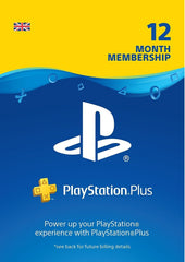 Playstation Plus 1 Year Membership Gift Card (UK)