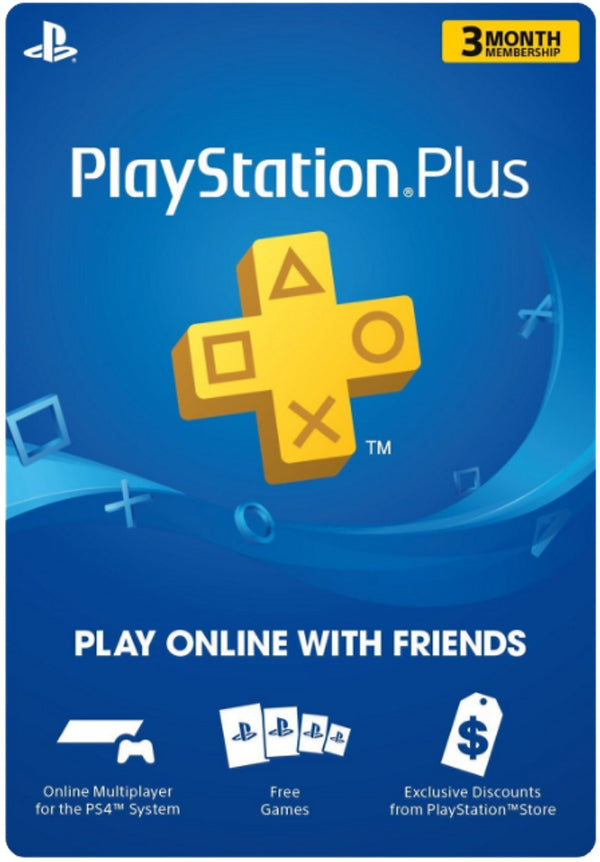 Playstation Plus 3 Month Membership Gift Card (US)