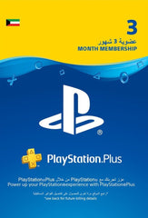 Playstation Plus 3 Months Membership Gift Card (Kuwait)