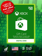 "XBOX Gift Card $50 ""Digital Card"""