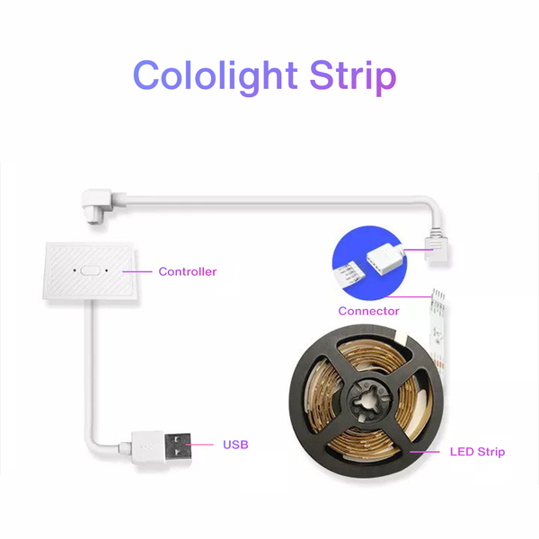 COLOLIGHT STRIP - 30LEDS/M - 2M STARTER KIT