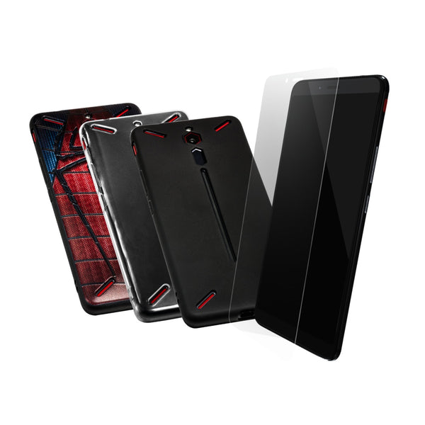 Total Defence Bundle (Screen Protector+Silicon Rubber Case)