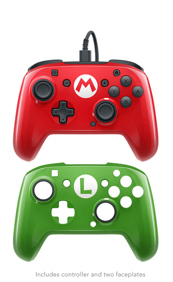 PDP Nintendo Switch Faceoff Mario Bros Wired Pro Controller