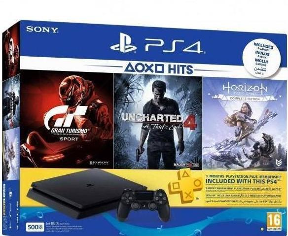 Sony PlayStation 4 Slim 500GB Hit Bundle Console with 3 Games and 3 Month PSN Card