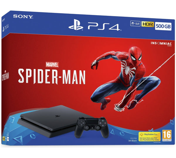 Sony PlayStation 4 Slim 500GB Marvels Spiderman Bundle