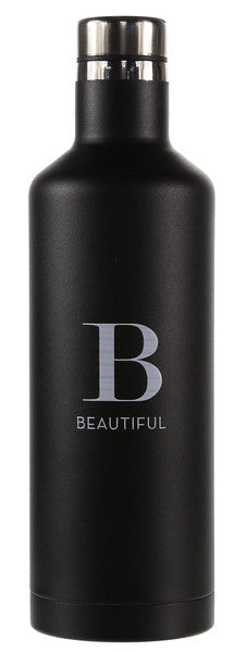 Black Beautiful Bottle