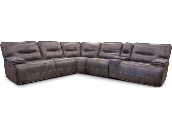 Channing Leather Sectional