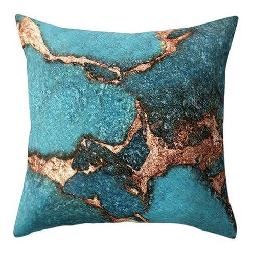 Blue Golden Pillow Case