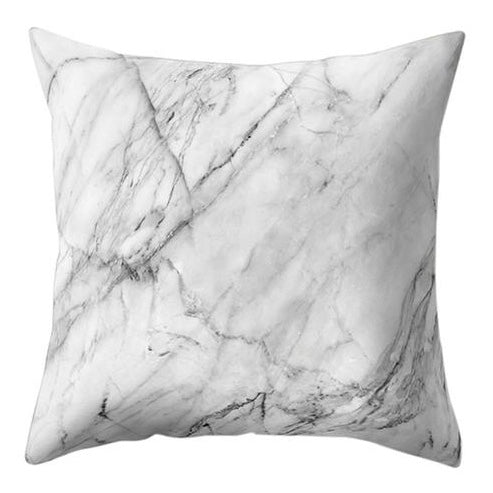 Classic White Marble Pillow Case